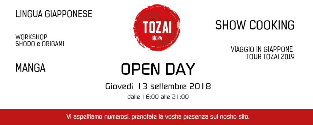 open day tozai giovedi 13 settembre 2018 images